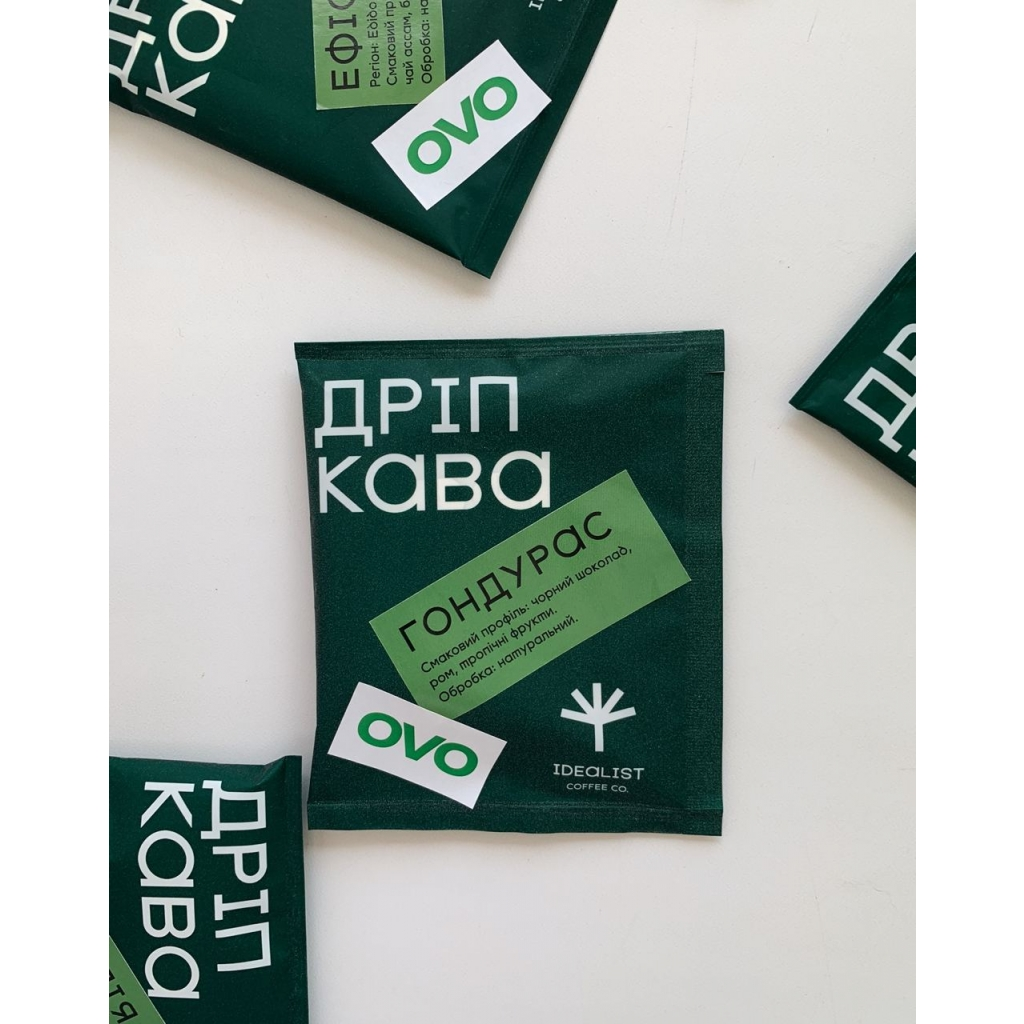 Дріп кава IDEALIST COFFEE & OVO Гондурас 12г від OVO