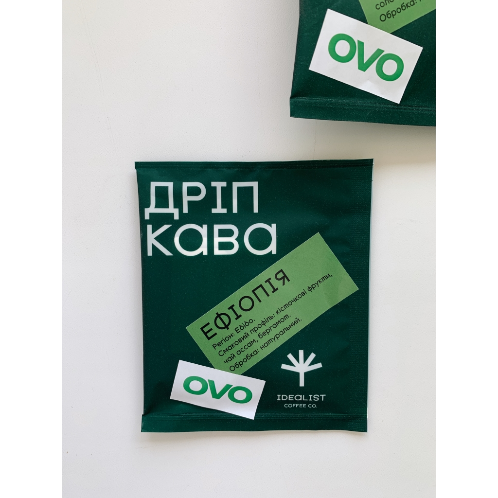 Дріп кава IDEALIST COFFEE & OVO Ефіопія 12г від OVO